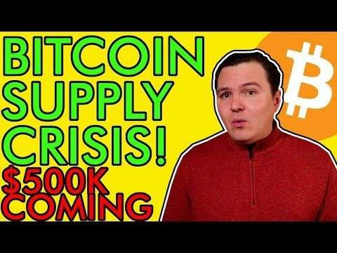 The Crypto Lark: WOW! BITCOIN INSANE SUPPLY SHOCK HAPPENING! BUY BEFORE ITS TOO LATE! [$500,000 Price Prediction]