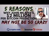 Altcoin Buzz: John McAfee's $2 MILLION BTC Price Prediction | Bitcoin Halving Impact | Crypto.Com Lists TOMOCHAIN