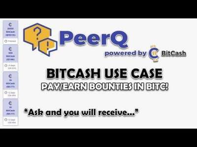 Goose-Tech: PeerQ Beta - BitCash Use Case Has Arrived - Pay/Earn Bounties in BITC!