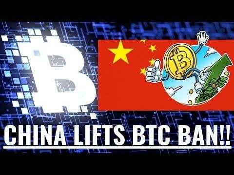 Trade Genius: China Lifts Bitcoin Ban - (Webinar to Discuss at 3pm PST Today)