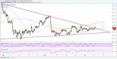 newsBTC: Bitcoin (BTC) Price Watch: More Signs Point to Gains