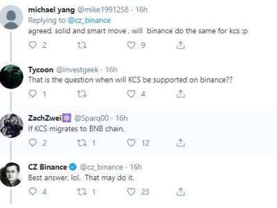 Coingape: Binance CEO Appreciates Competing Exchange On Supporting Binance Chain & BNB