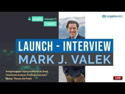 cryptowelt: Launch neuer Crypto Research Report - Interview mit Mark J. Valek