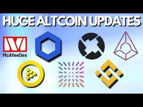 Altcoin Buzz: Huge Altcoin Updates | John McAfee Dex | Chainlink | iExec | 0x Protocol | Augur | Binance | Insolar